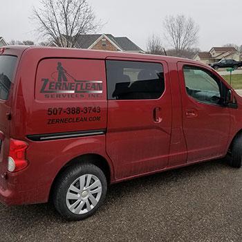 working-red-van